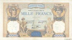 1000 Francs CÉRÈS ET MERCURE type modifié FRANCE  1940 F.38.41 pr.TTB