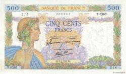 500 Francs LA PAIX FRANCE  1942 F.32.39 SPL