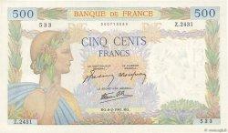 500 Francs LA PAIX FRANCE  1941 F.32.14 TTB+