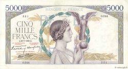 5000 Francs VICTOIRE Impression à plat FRANCE  1939 F.46.08