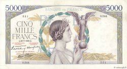 5000 Francs VICTOIRE Impression à plat FRANCE  1939 F.46.08 TTB