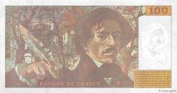 100 Francs DELACROIX 442-1 & 442-2 FRANCE  1994 F.69ter.01a SUP