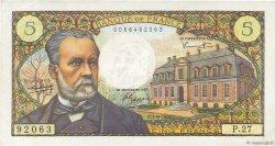 5 Francs PASTEUR FRANCE  1966 F.61.03 TTB+