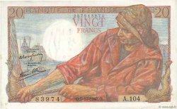 20 Francs PÊCHEUR FRANCE  1943 F.13.07 TTB