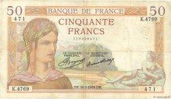 50 Francs CÉRÈS FRANCE  1936 F.17.28 TB