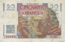 50 Francs LE VERRIER FRANCE  1949 F.20.11 pr.TTB