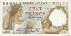 100 Francs SULLY FRANCE  1940 F.26.39 TTB+