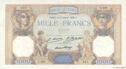1000 Francs CÉRÈS ET MERCURE FRANCE  1930 F.37.04 TTB+