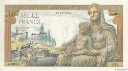 1000 Francs DÉESSE DÉMÉTER FRANCE  1943 F.40.15 SUP+