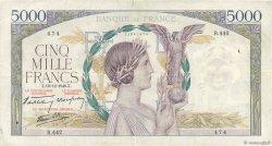 5000 Francs VICTOIRE Impression à plat FRANCE  1940 F.46.16 TB