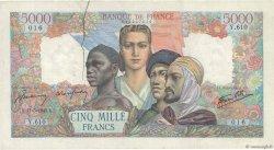 5000 Francs EMPIRE FRANCAIS FRANCE  1945 F.47.26 pr.TTB