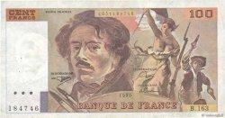 100 Francs DELACROIX imprimé en continu FRANCE  1990 F.69bis.02b TB