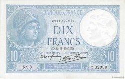 10 Francs MINERVE modifié FRANCE  1940 F.07.25 pr.SPL