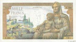 1000 Francs DÉESSE DÉMÉTER FRANCE  1942 F.40.02 TTB+