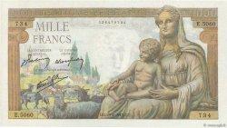 1000 Francs DÉESSE DÉMÉTER FRANCE  1943 F.40.22 pr.NEUF