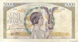5000 Francs VICTOIRE Impression à plat FRANCE  1942 F.46.34 TB