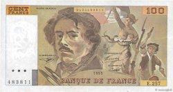 100 Francs DELACROIX 442-1 & 442-2 FRANCE  1995 F.69ter.02a TTB