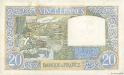 20 Francs SCIENCE ET TRAVAIL FRANCE  1941 F.12.13 TB