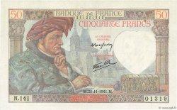 50 Francs JACQUES CŒUR FRANCE  1941 F.19.16 SUP