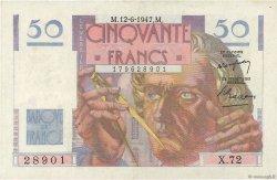 50 Francs LE VERRIER FRANCE  1947 F.20.08 pr.SUP