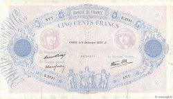 500 Francs BLEU ET ROSE modifié FRANCE  1937 F.31.05 B