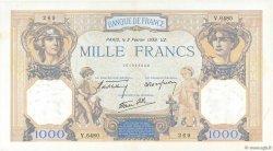 1000 Francs CÉRÈS ET MERCURE type modifié FRANCE  1939 F.38.34 SUP+