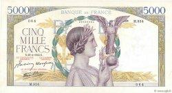 5000 Francs VICTOIRE Impression à plat FRANCE  1942 F.46.37 pr.SUP