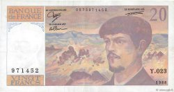 20 Francs DEBUSSY FRANCE  1988 F.66.09 TTB