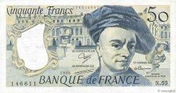 50 Francs QUENTIN DE LA TOUR FRANCE  1989 F.67.15 TTB