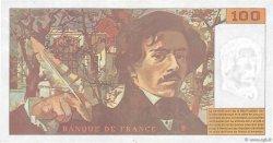 100 Francs DELACROIX 442-1 & 442-2 FRANCE  1994 F.69ter.01b TTB