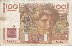 100 Francs JEUNE PAYSAN FRANCE  1950 F.28.27 TB