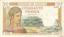 50 Francs CÉRÈS FRANCE  1935 F.17.03 TB