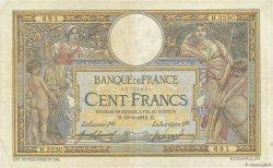 100 Francs LUC OLIVIER MERSON sans LOM FRANCE  1916 F.23.08 TB