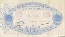 500 Francs BLEU ET ROSE FRANCE  1937 F.30.38 pr.TB