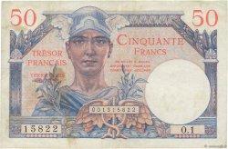 50 Francs TRÉSOR FRANÇAIS FRANCE  1947 VF.31.01 TB+