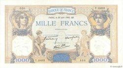 1000 Francs CÉRÈS ET MERCURE type modifié FRANCE  1940 F.38.49 SUP