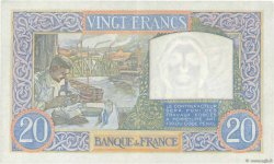 20 Francs SCIENCE ET TRAVAIL FRANCE  1940 F.12.06 TTB+