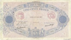 500 Francs BLEU ET ROSE FRANCE  1927 F.30.30 TB
