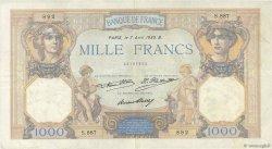 1000 Francs CÉRÈS ET MERCURE FRANCE  1930 F.37.05 TB