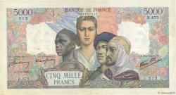 5000 Francs EMPIRE FRANÇAIS FRANCE  1945 F.47.29 TB