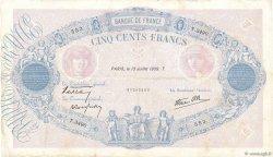 500 Francs BLEU ET ROSE modifié FRANCE  1939 F.31.36 pr.TTB