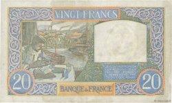 20 Francs SCIENCE ET TRAVAIL FRANCE  1941 F.12.15 pr.TTB