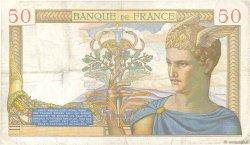 50 Francs CÉRÈS modifié FRANCE  1938 F.18.15 pr.TTB