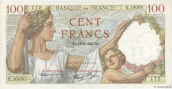 100 Francs SULLY FRANCE  1940 F.26.27 SUP