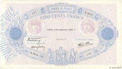 500 Francs BLEU ET ROSE modifié FRANCE  1939 F.31.41 TTB+