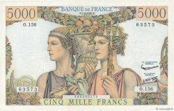 5000 Francs TERRE ET MER FRANCE  1957 F.48.13 pr.SUP
