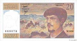 20 Francs DEBUSSY FRANCE  1980 F.66.01 UNC