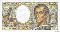 200 Francs MONTESQUIEU FRANCE  1988 F.70.08 pr.SUP