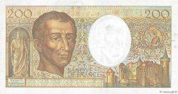 200 Francs MONTESQUIEU FRANCE  1991 F.70.11 pr.SUP