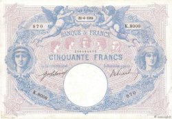 50 Francs BLEU ET ROSE FRANCE  1918 F.14.31 pr.TTB